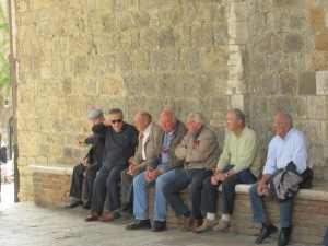 Men on bench